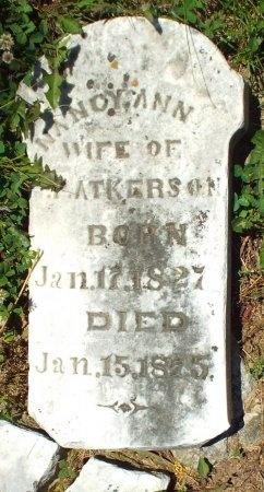 ATKERSON, NANCY ANN - Lawrence County, Missouri | NANCY ANN ATKERSON - Missouri Gravestone Photos