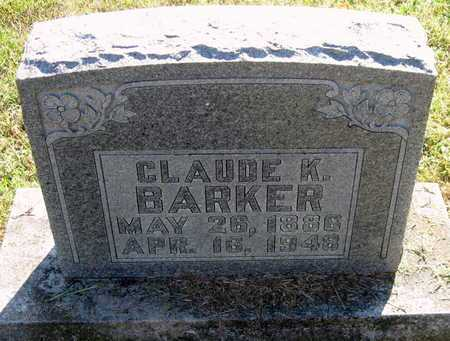 BARKER, CLAUDE K - Lawrence County, Missouri   CLAUDE K BARKER - Missouri Gravestone Photos