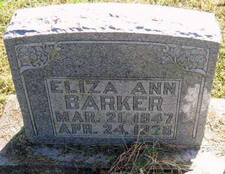 BARKER, ELIZA ANN - Lawrence County, Missouri   ELIZA ANN BARKER - Missouri Gravestone Photos