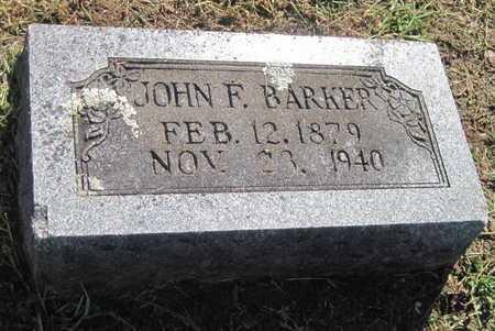 BARKER, JOHN FRANKLIN - Lawrence County, Missouri | JOHN FRANKLIN BARKER - Missouri Gravestone Photos