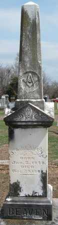 BEAVEN, JAMES ALEXANDER - Lawrence County, Missouri   JAMES ALEXANDER BEAVEN - Missouri Gravestone Photos