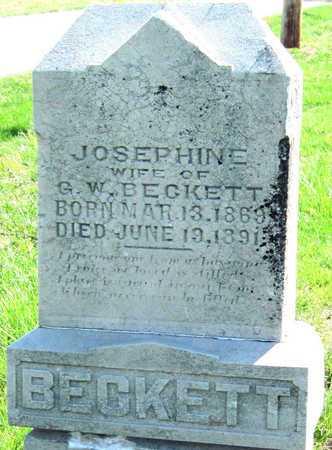 BECKETT, JOSEPHINE - Lawrence County, Missouri | JOSEPHINE BECKETT - Missouri Gravestone Photos