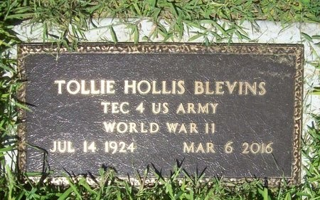 BLEVINS, TOLLIE HOLLIS (VETERAN WWII) - Lawrence County, Missouri | TOLLIE HOLLIS (VETERAN WWII) BLEVINS - Missouri Gravestone Photos