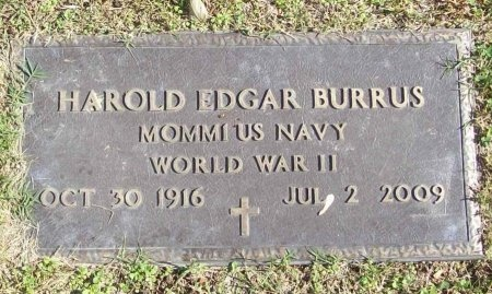 BURRUS, HAROLD EDGAR (VETERAN WWII) - Lawrence County, Missouri | HAROLD EDGAR (VETERAN WWII) BURRUS - Missouri Gravestone Photos