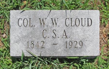 CLOUD, W W VETERAN CSA - Lawrence County, Missouri | W W VETERAN CSA CLOUD - Missouri Gravestone Photos