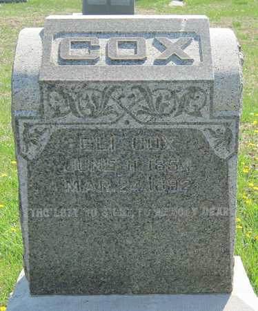 COX, ELI - Lawrence County, Missouri | ELI COX - Missouri Gravestone Photos
