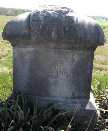 COX, M B - Lawrence County, Missouri | M B COX - Missouri Gravestone Photos