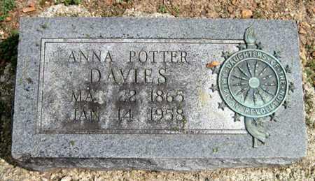 POTTER DAVIES, ANNA - Lawrence County, Missouri | ANNA POTTER DAVIES - Missouri Gravestone Photos