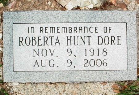 HUNT DORE, ROBERTA - Lawrence County, Missouri | ROBERTA HUNT DORE - Missouri Gravestone Photos
