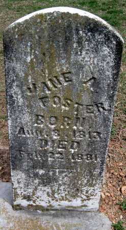 FOSTER, JANE A - Lawrence County, Missouri | JANE A FOSTER - Missouri Gravestone Photos