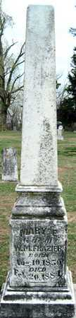 FRAZIER, MARY E - Lawrence County, Missouri | MARY E FRAZIER - Missouri Gravestone Photos