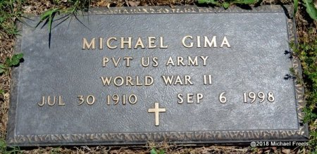 GIMA, MICHAEL (VETERAN WWII) - Lawrence County, Missouri   MICHAEL (VETERAN WWII) GIMA - Missouri Gravestone Photos
