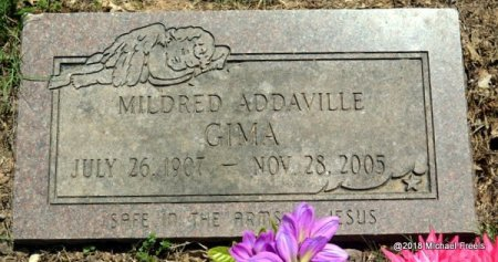 GIMA, MILDRED ADDAVILLE - Lawrence County, Missouri | MILDRED ADDAVILLE GIMA - Missouri Gravestone Photos