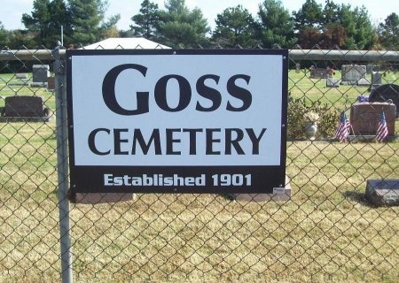 *GOSS CEMETERY,  - Lawrence County, Missouri |  *GOSS CEMETERY - Missouri Gravestone Photos