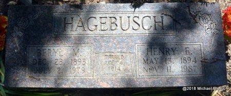 HAGEBUSCH, BERYL V. - Lawrence County, Missouri | BERYL V. HAGEBUSCH - Missouri Gravestone Photos