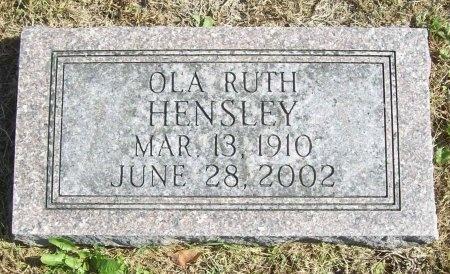 HENSLEY, OLA RUTH - Lawrence County, Missouri | OLA RUTH HENSLEY - Missouri Gravestone Photos