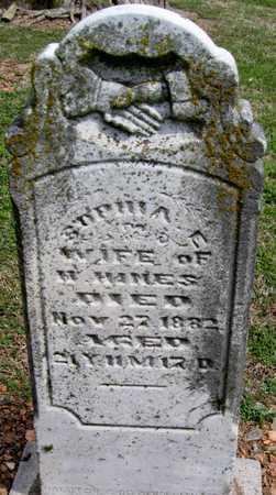 HINES, SOPHIA E - Lawrence County, Missouri | SOPHIA E HINES - Missouri Gravestone Photos