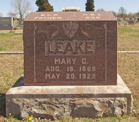 LEAKE, MARY C - Lawrence County, Missouri | MARY C LEAKE - Missouri Gravestone Photos