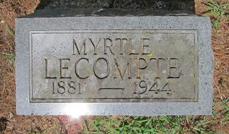 LECOMPTE, MYRTLE - Lawrence County, Missouri | MYRTLE LECOMPTE - Missouri Gravestone Photos