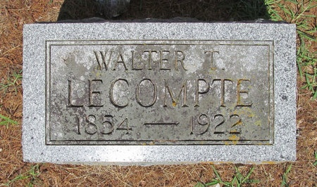 LECOMPTE, WALTER T - Lawrence County, Missouri | WALTER T LECOMPTE - Missouri Gravestone Photos