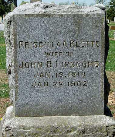 LIPSCOMB, PRISCILLA A - Lawrence County, Missouri | PRISCILLA A LIPSCOMB - Missouri Gravestone Photos