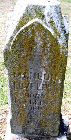 LOVELESS, MAHLON - Lawrence County, Missouri   MAHLON LOVELESS - Missouri Gravestone Photos