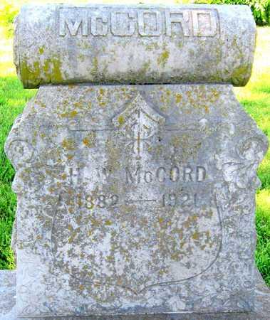 MCCORD, H WALLACE - Lawrence County, Missouri   H WALLACE MCCORD - Missouri Gravestone Photos