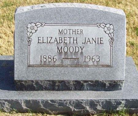 MOODY, ELIZABETH JANIE - Lawrence County, Missouri | ELIZABETH JANIE MOODY - Missouri Gravestone Photos