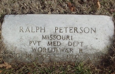PETERSON, RALPH (VETERAN WWII) - Lawrence County, Missouri | RALPH (VETERAN WWII) PETERSON - Missouri Gravestone Photos