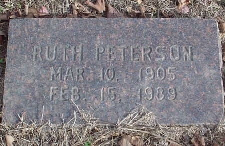 "PETERSON, YEURTA ""RUTH"" - Lawrence County, Missouri | YEURTA ""RUTH"" PETERSON - Missouri Gravestone Photos"