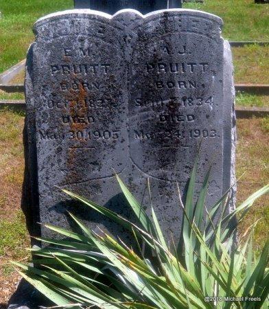 PRUITT, A.J. - Lawrence County, Missouri   A.J. PRUITT - Missouri Gravestone Photos