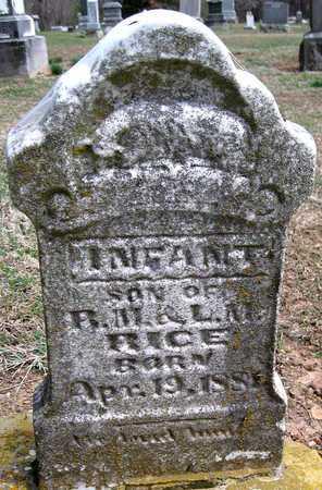 RICE, INFANT SON - Lawrence County, Missouri   INFANT SON RICE - Missouri Gravestone Photos