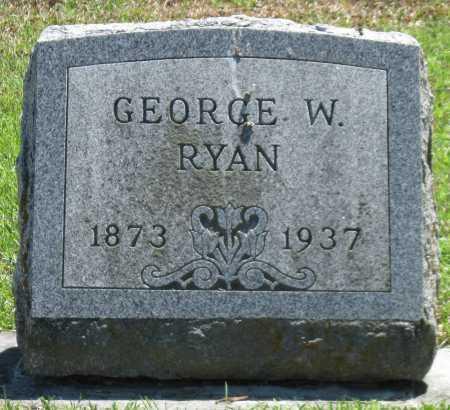 RYAN, GEORGE W - Lawrence County, Missouri | GEORGE W RYAN - Missouri Gravestone Photos