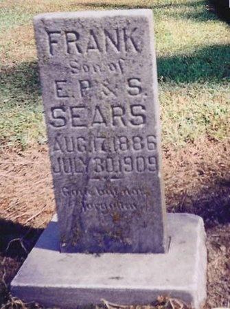 SEARS, FRANK - Lawrence County, Missouri   FRANK SEARS - Missouri Gravestone Photos