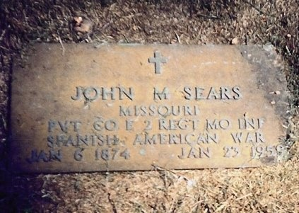 SEARS, JOHN MASON (VETERAN SAW) - Lawrence County, Missouri | JOHN MASON (VETERAN SAW) SEARS - Missouri Gravestone Photos