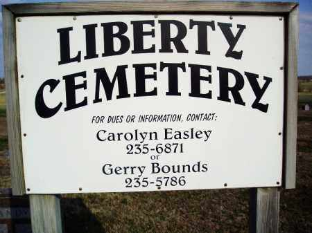"""LIBERTY CEMETERY SIGN, . - Lawrence County, Missouri 