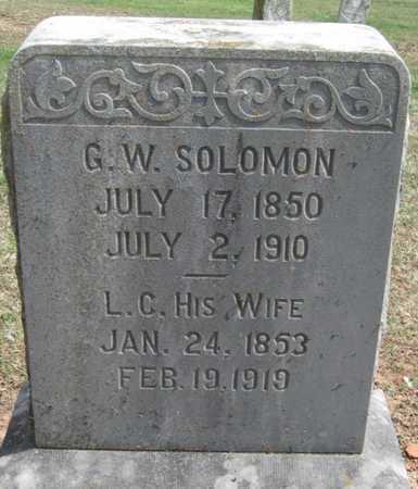 SOLOMON, LOUISA CATHERYN - Lawrence County, Missouri   LOUISA CATHERYN SOLOMON - Missouri Gravestone Photos