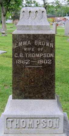 THOMPSON, EMMA - Lawrence County, Missouri | EMMA THOMPSON - Missouri Gravestone Photos