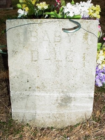 UNKNOWN, BABY DALE - Lawrence County, Missouri | BABY DALE UNKNOWN - Missouri Gravestone Photos