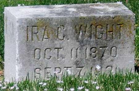 WIGHT, IRA CLINTON - Lawrence County, Missouri | IRA CLINTON WIGHT - Missouri Gravestone Photos