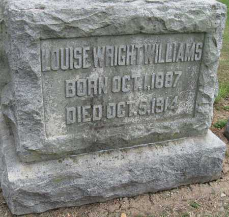 """WRIGHT WILLIAMS, LOUISE """"LULU"""" - Lawrence County, Missouri 