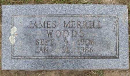 WOODS, JAMES MERRILL - Lawrence County, Missouri | JAMES MERRILL WOODS - Missouri Gravestone Photos