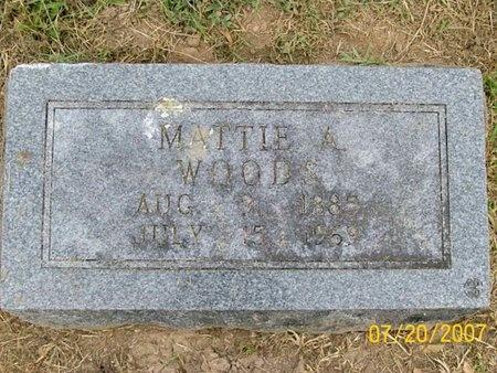 WOODS, MATTIE A. - Lawrence County, Missouri | MATTIE A. WOODS - Missouri Gravestone Photos