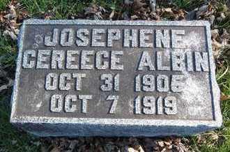 ALBIN, JOSEPHINE CEREECE - Linn County, Missouri | JOSEPHINE CEREECE ALBIN - Missouri Gravestone Photos