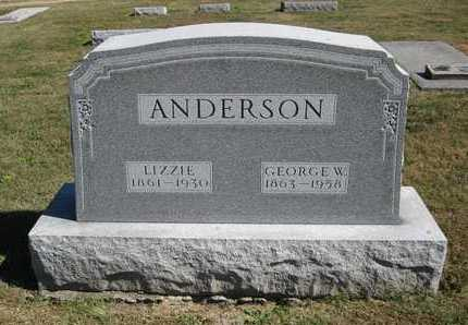 ANDERSON, GEORGE WASHINGTON - Linn County, Missouri | GEORGE WASHINGTON ANDERSON - Missouri Gravestone Photos