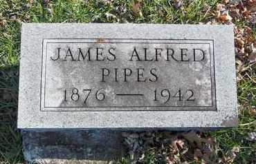 PIPES, JAMES ALFRED - Linn County, Missouri | JAMES ALFRED PIPES - Missouri Gravestone Photos