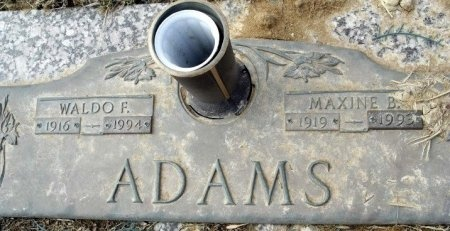 ADAMS, MAXINE B - Macon County, Missouri | MAXINE B ADAMS - Missouri Gravestone Photos