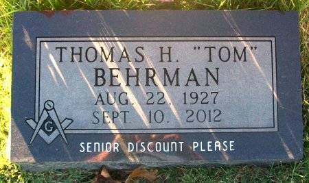 "BEHRMAN, THOMAS HENRY ""TOM"" - Macon County, Missouri 