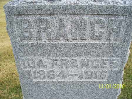 BRANCH, IDA FRANCES - Marion County, Missouri   IDA FRANCES BRANCH - Missouri Gravestone Photos