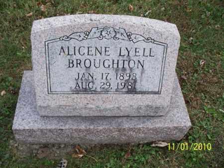 BROUGHTON, ALICENE - Marion County, Missouri | ALICENE BROUGHTON - Missouri Gravestone Photos